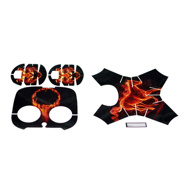 Leather-made Water-proof Sticker for DJI Phantom 4 - BLACK AND ORANGE