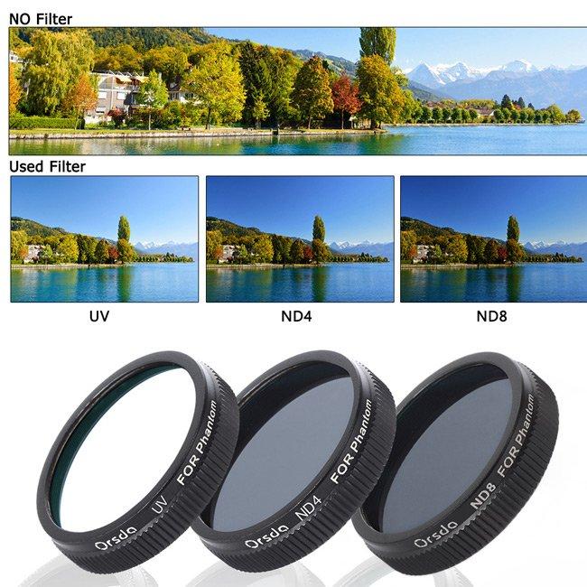 DJI ND4 ND8 Filter for Phantom 3 Professional / Advanced