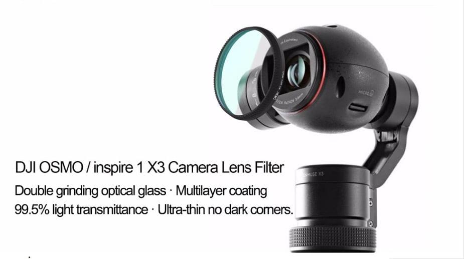 PGY DJI OSMO inspire1 X3 HD ND2-400 ND4 ND8 ND16 CPL MC-UV Lens Filter DJI X3 gimbal Lens Filter 02
