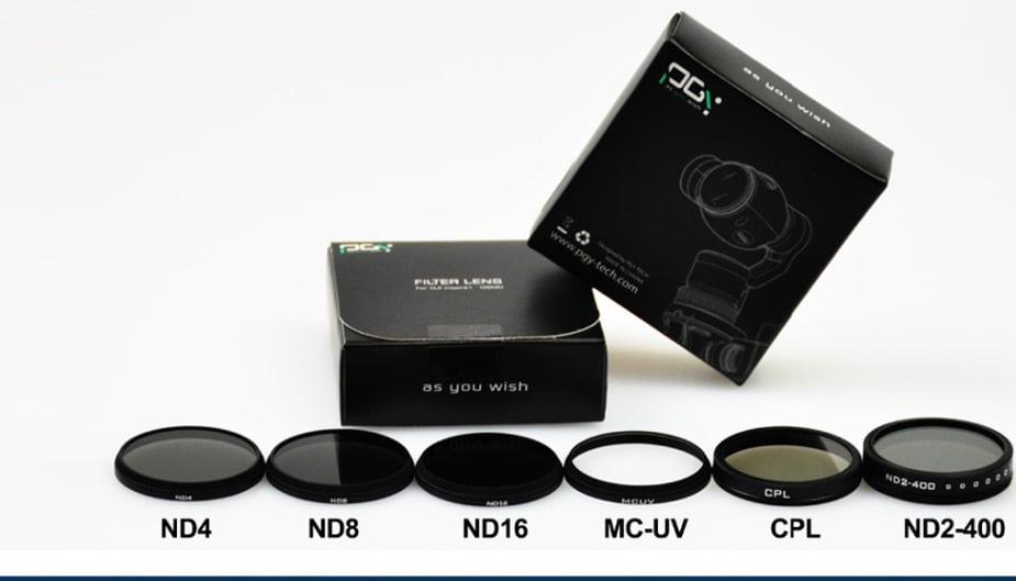 PGY DJI OSMO inspire1 X3 HD ND2-400 ND4 ND8 ND16 CPL MC-UV Lens Filter DJI X3 gimbal Lens Filter 08