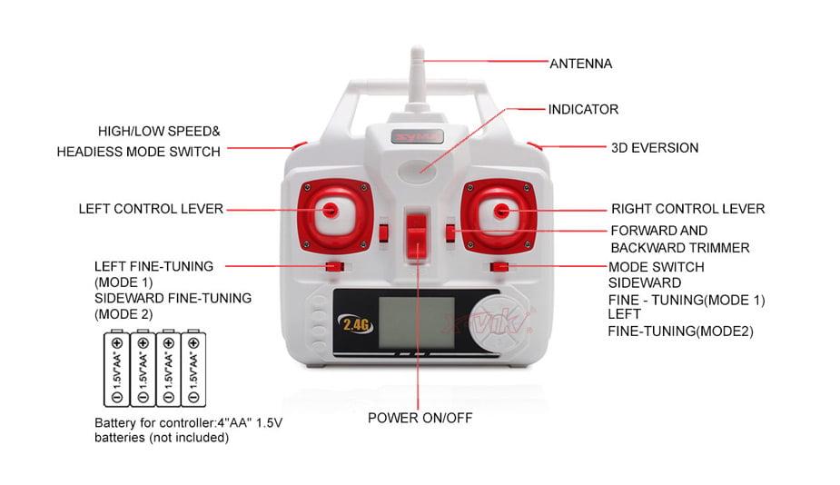 Syma-X5HC-X5HW-White-2.4G-Transmitter-02