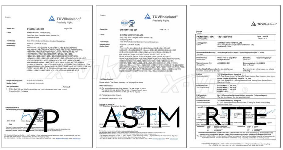 X-VIKI JJRC Product Certificate