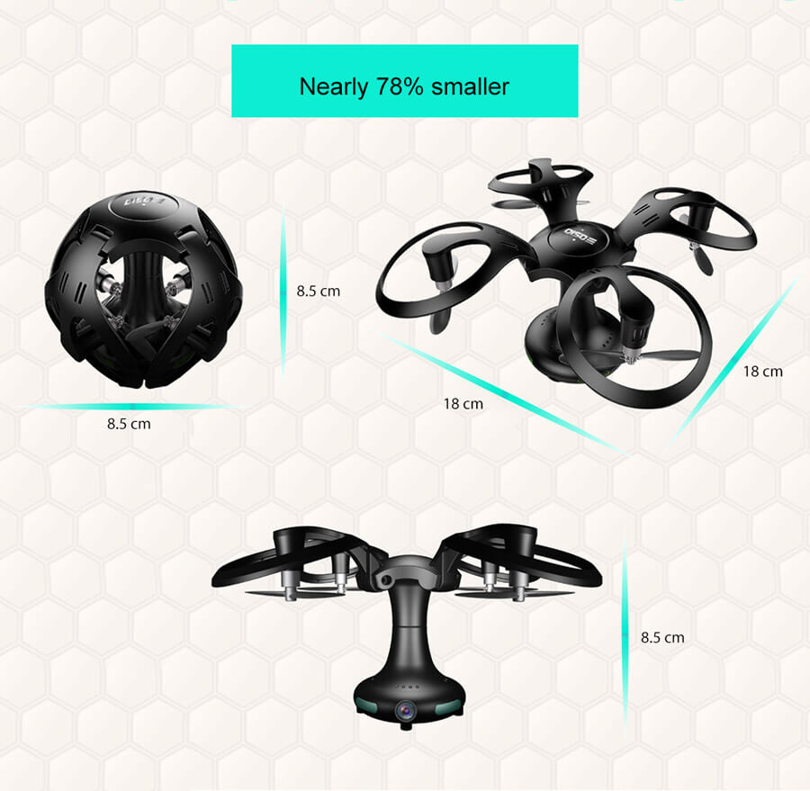 Ball Shape Foldable RC Quadcopter