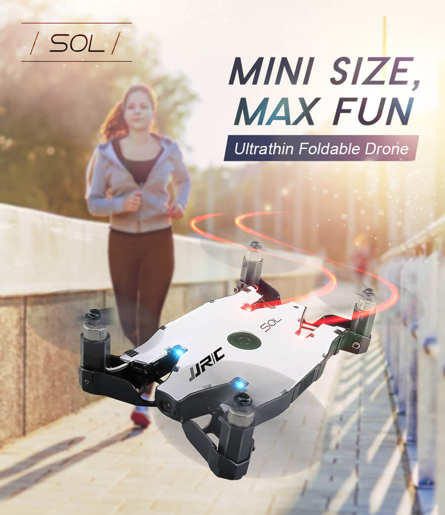 The JJRC H49 is an ultra-thin selfie drone.